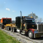 MD Transport 11 axle Float Oversize 850 Hitachi Excavator From Baltimore,MD to Timmins,ON Transportation Ontario Canada
