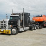 MD Transport RGN Heavy Haul Hitachi Excavator 80,000 lbs Transportation Ontario Canada
