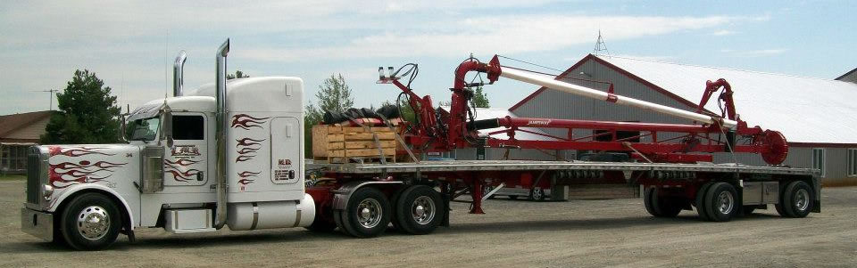 MD Transport Flat Deck Freight Farm Equipment Transportation Ontario Canada