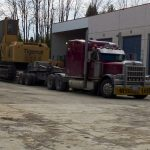 MD Transport RGN Trailer Tigercat Forestry Equipment Transportation Ontario Canada