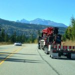 MD Transport Extendable RGN Trailer Crane Transportation to British Columbia Canada