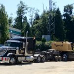 MD Transport RGN Trailer Tigercat Forestry Equipment Transportation to British Columbia Canada