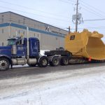 MD Transport Float Overdimensional Bucket 125,000 lbs Transportation Ontario Canada